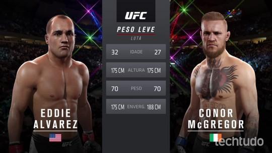 Confira uma simulação de luta entre Conor McGregor e Eddie Alvarez
