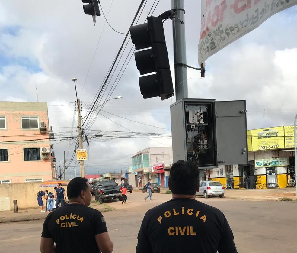 Polícia Civil investiga sistema de fraude na manutenção de semáforos em Porto Velho — Foto: Polícia Civil/Divulgação