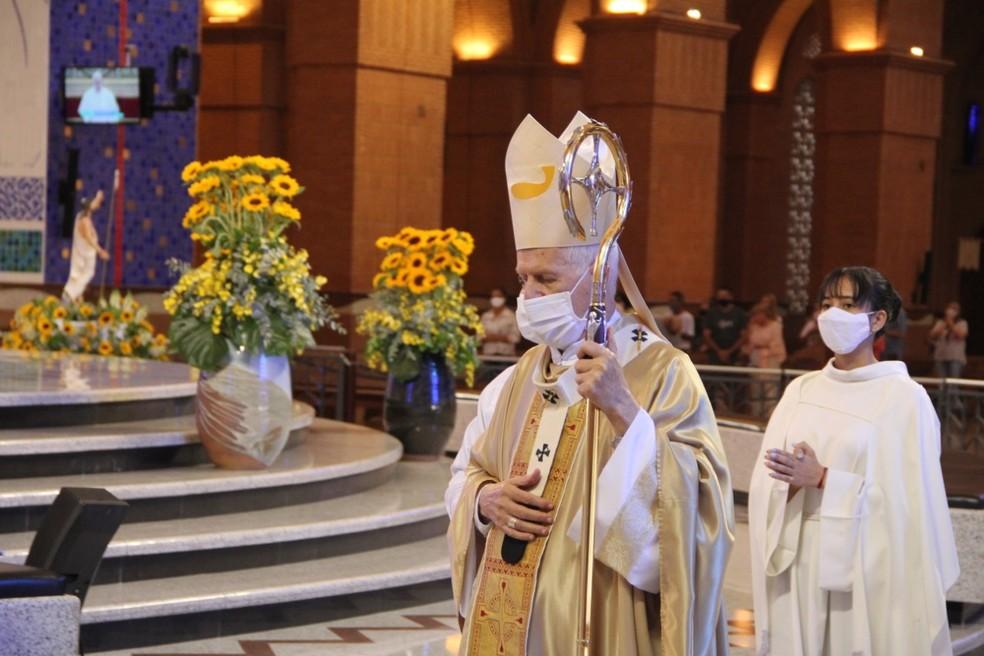 Dom Orlando Brandes, arcebispo de Aparecida — Foto: Matheus Andrade/Santuário Nacional