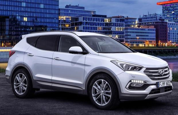 Honda Santa Fe >> Hyundai mostra imagens do Santa Fe reestilizado - AUTO ...
