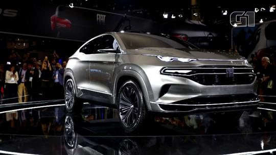 Fiat mostra conceito de SUV baseado na Toro no Salão do Automóvel