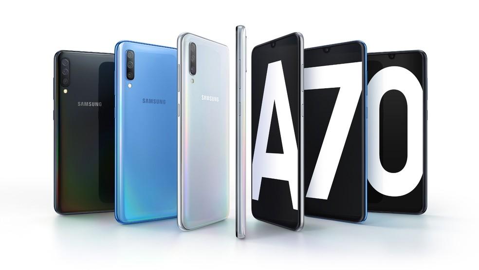 Galaxy A70: câmera tripla é destaque; preço ainda é mistério — Foto: Divulgação/Samsung