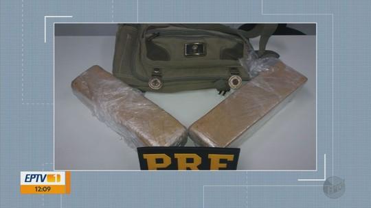 PRF apreende 4 kg de maconha em ônibus na Fernão Dias, em Pouso Alegre, MG