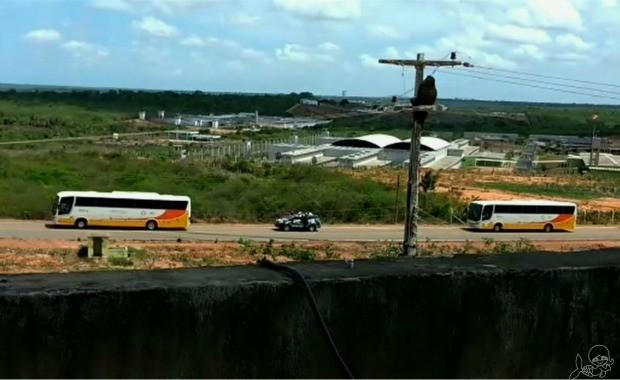 Líderes de facções em presídios do Ceará são transferidos para evitar conflitos entre grupos (Foto: TV Verdes Mares/Reprodução)