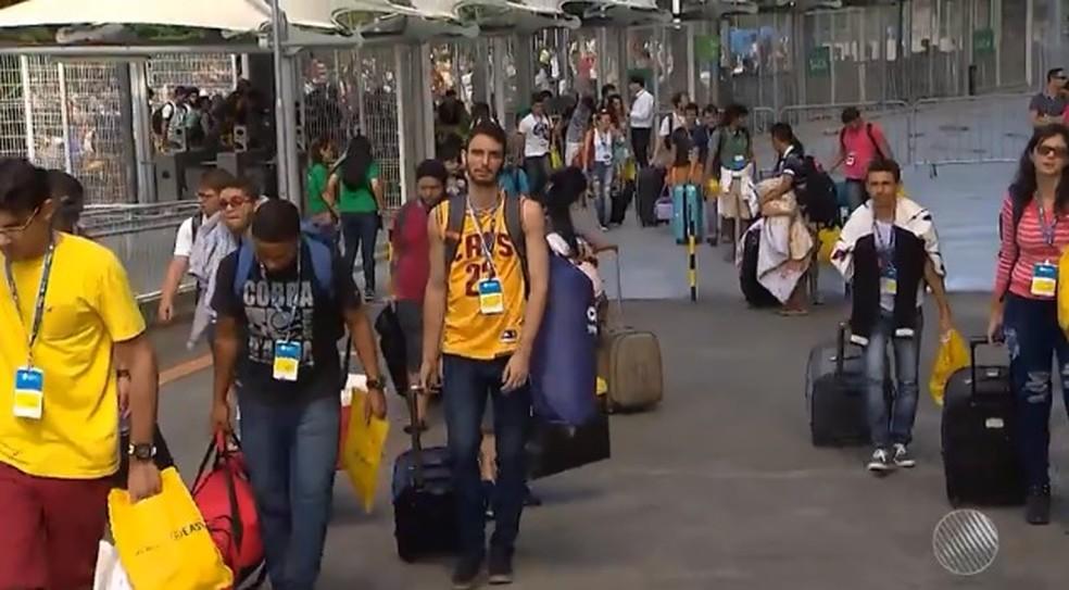 Primeira edição da Campus Party Salvador atraiu 80 mil visitantes e 6 mil campuseiros (Foto: Reprodução/ TV Bahia)