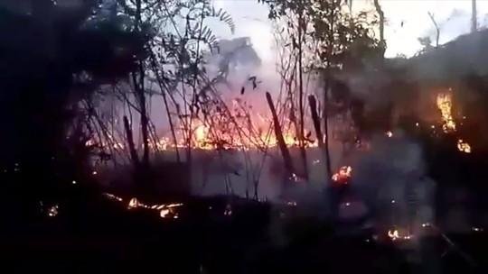Incêndio consome área de mata em Santa Maria Madalena, RJ, por cerca de 19 horas; veja vídeo