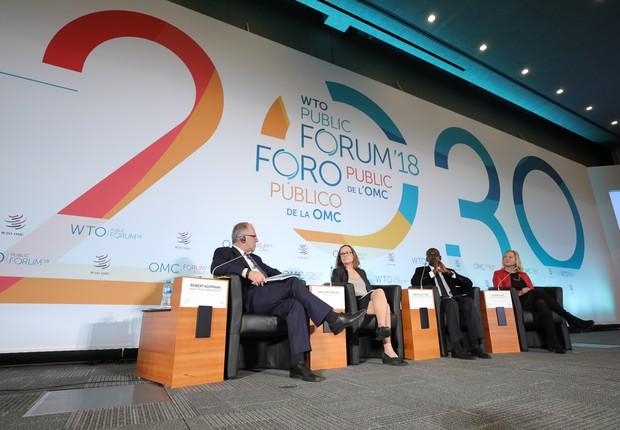 Lançamento do relatório foi feito em conferência realizada na sede da Organização Mundial do Comércio (OMC) em Genebra, na Suíça (Foto: WTO/Jay Louvion)