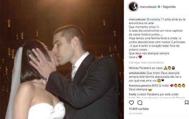 Marcus Buaiz se declara a Wanessa nos 11 anos juntos (Foto: Reprodução/Instagram)