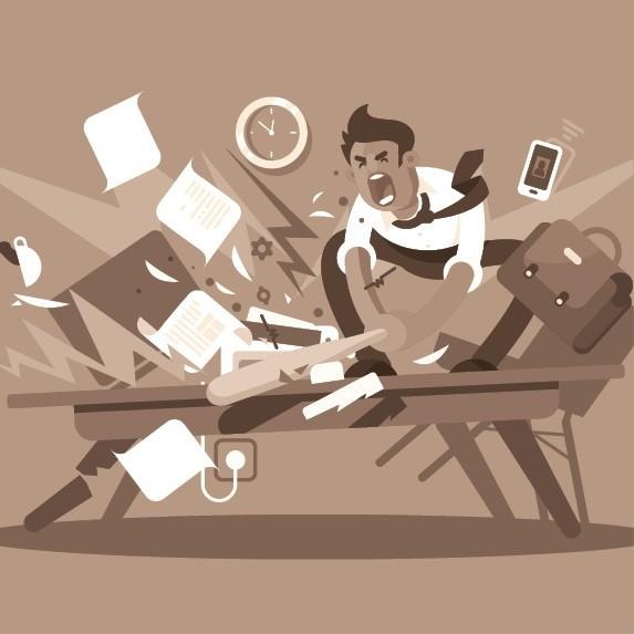 Estresse; chefe; bronca; briga; raiva; fúria (Foto: Thinkstock)