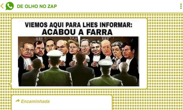 Montagem que circulou em grupos bolsonaristas recicla narrativa de intervenção das Forças Armadas no STF