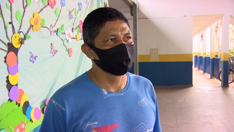 Marileudo Rodrigues, professor cuidador em Porto Velho. — Foto: Gustavo Luz/Rede Amazônica