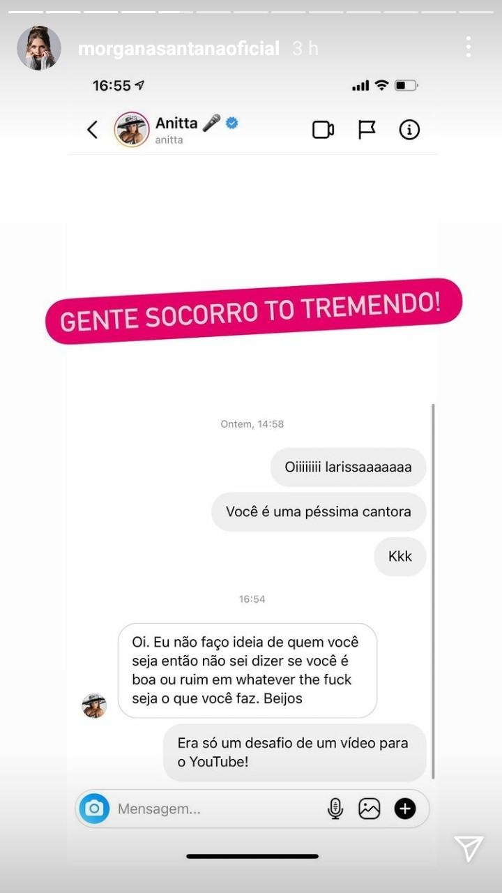 Morgana Santana explica crítica a Anitta (Foto: Reprodução / Instagram)