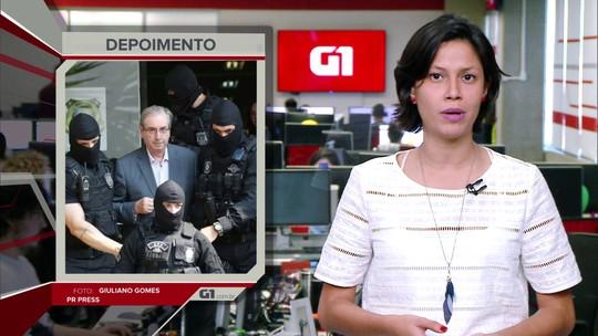 G1 em 1 Minuto: Eduardo Cunha é transferido do presídio de Curitiba para Brasília