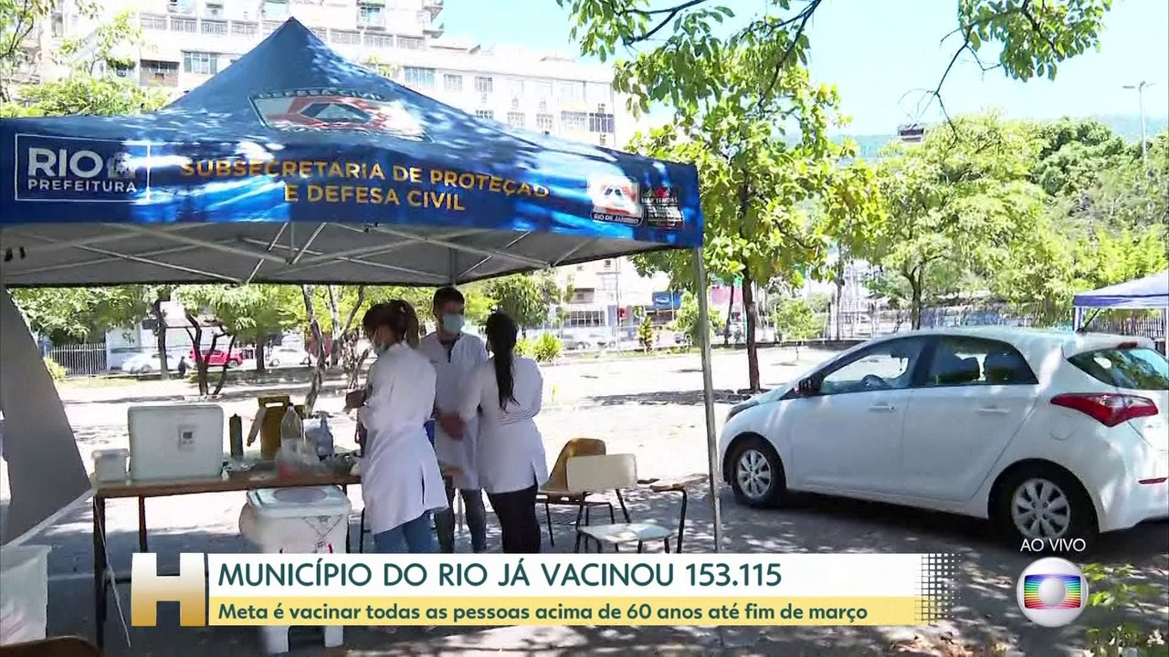 Prefeitura do Rio quer vacinar até o fim de março todos moradores com 60 anos ou mais