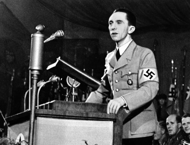 O ministro da Propaganda da Alemanha nazista, Joseph Goebbels, em imagem de 1939