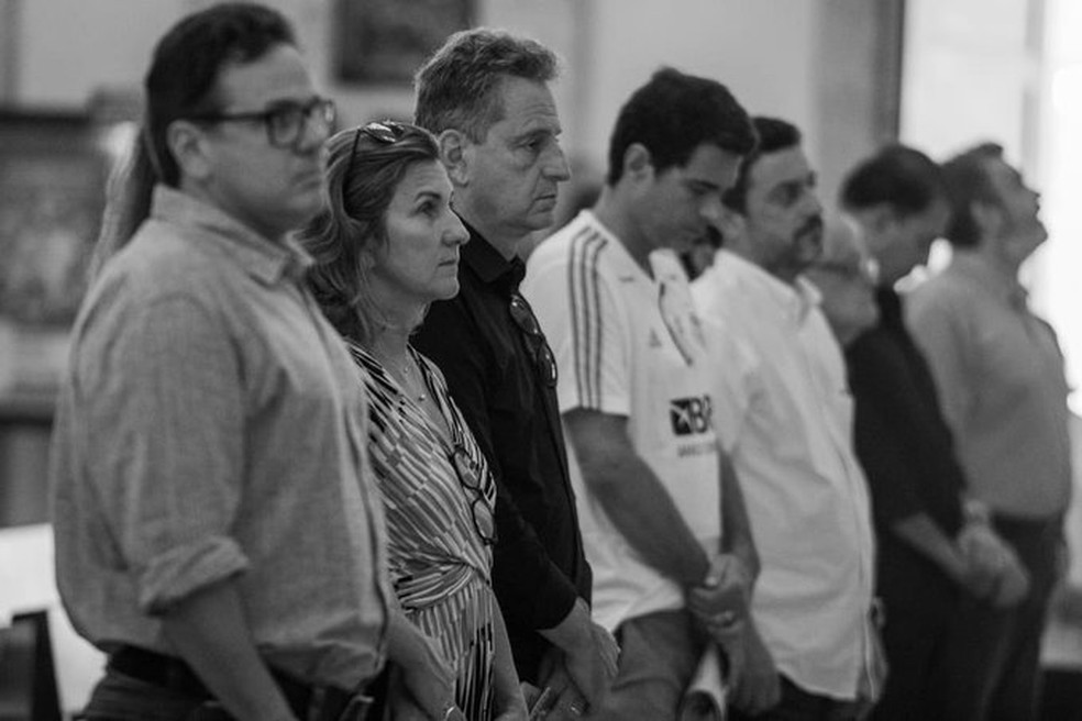 Rodrigo Dunshee e Rodolfo Landim — Foto: Paula Reis / Flamengo