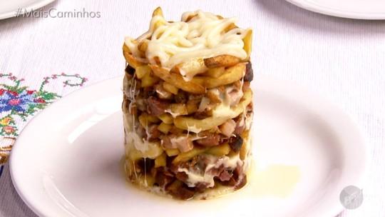 Torre de batata frita é destaque no 'Segredos da Cozinha'