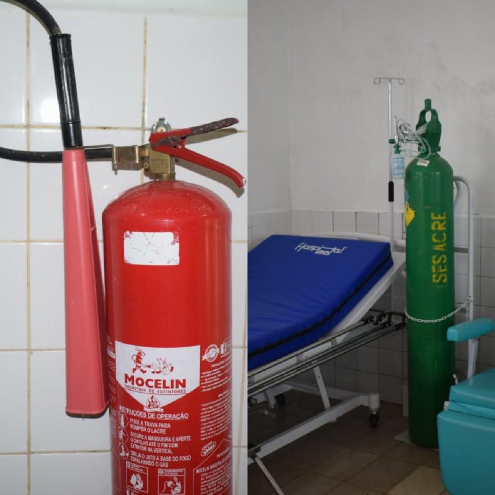 Hospital tem extintores vencidos há 4 anos e cilindros com risco de explosão — Foto: Arquivo/Sindmed-AC