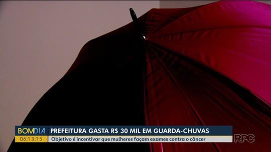 Gasto de R$ 30 mil com guarda-chuvas causa polêmica em Palotina
