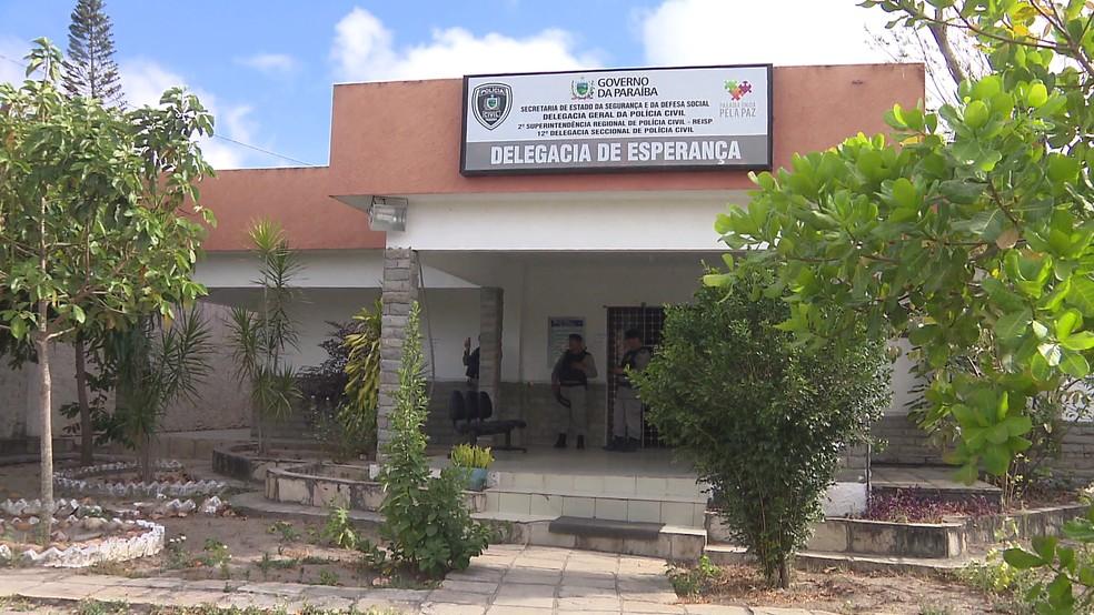 Delegacia de Esperança, PB — Foto: TV Paraíba/Reprodução