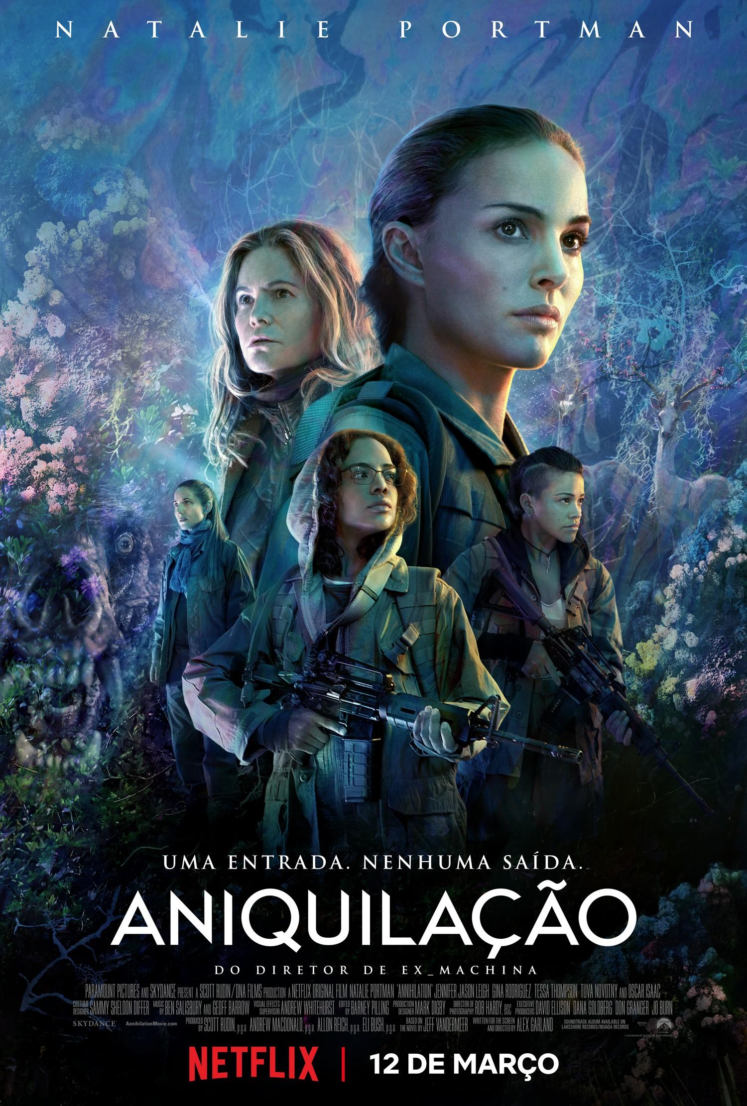 Pôster de Aniquilação, que estreia na Netflix em março (Foto: Divulgação)