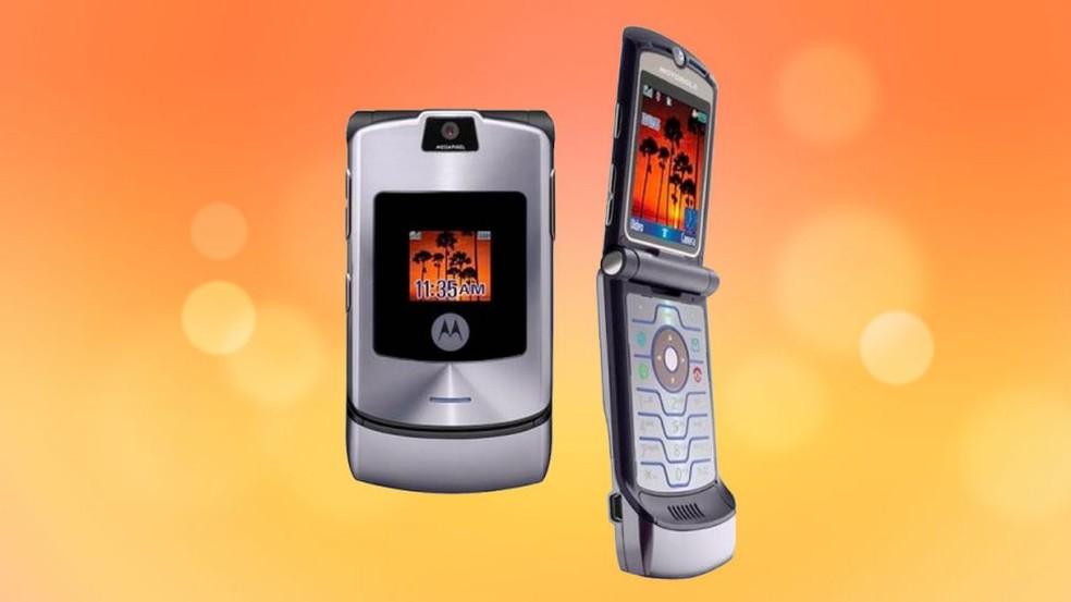 Motorola V3 foi um fenômeno de vendas nos anos 2000 — Foto: Divulgação/Motorola
