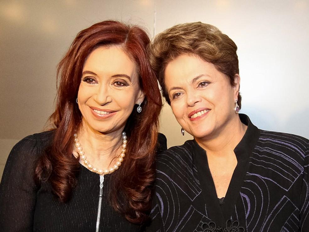 A ex-presidentes Cristina Kirchner e Dilma Rousseff em imagem de arquivo (Foto: Roberto Stuckert Filho / Presidência)