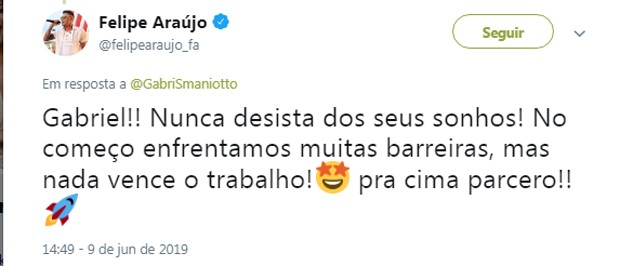 Felipe Araujo (Foto: Reprodução/Twitter)