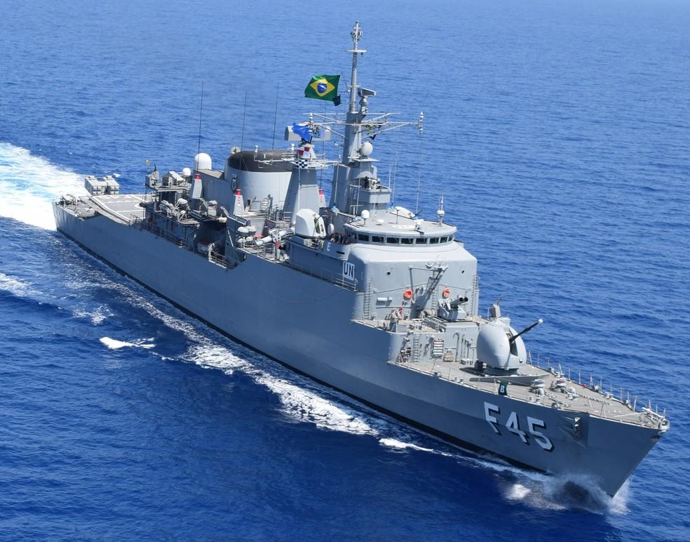 Fragata da União, da Marinha do Brasil, será aberta à visitação pública nesta sexta-feira (16) em Natal — Foto: Marinha do Brasil/Divulgação