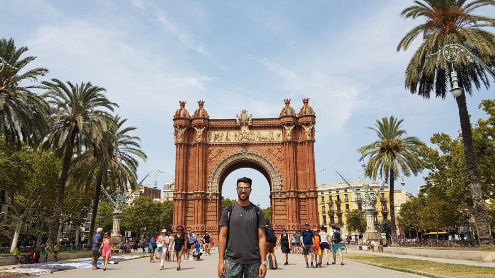 Lucas Ramos está em Barcelona desde segunda-feira (14). (Foto: Arquivo Pessoal/Lucas Ramos)