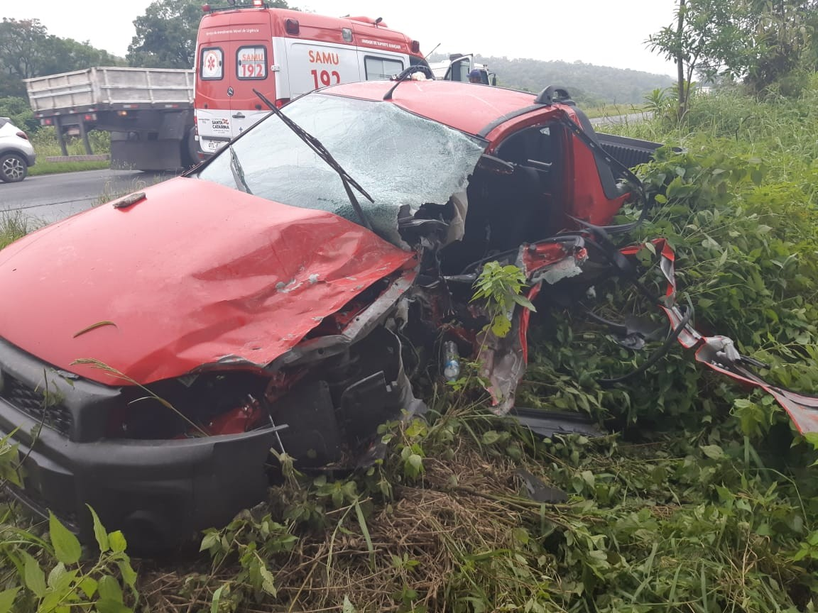 Idoso morre em acidente na BR-470, no Vale do Itajaí - Notícias - Plantão Diário
