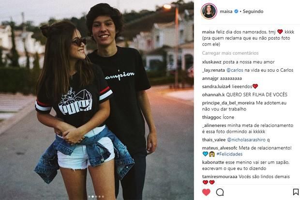 Maísa Silva e Nicholas Arashiro (Foto: Reprodução/Instagram)