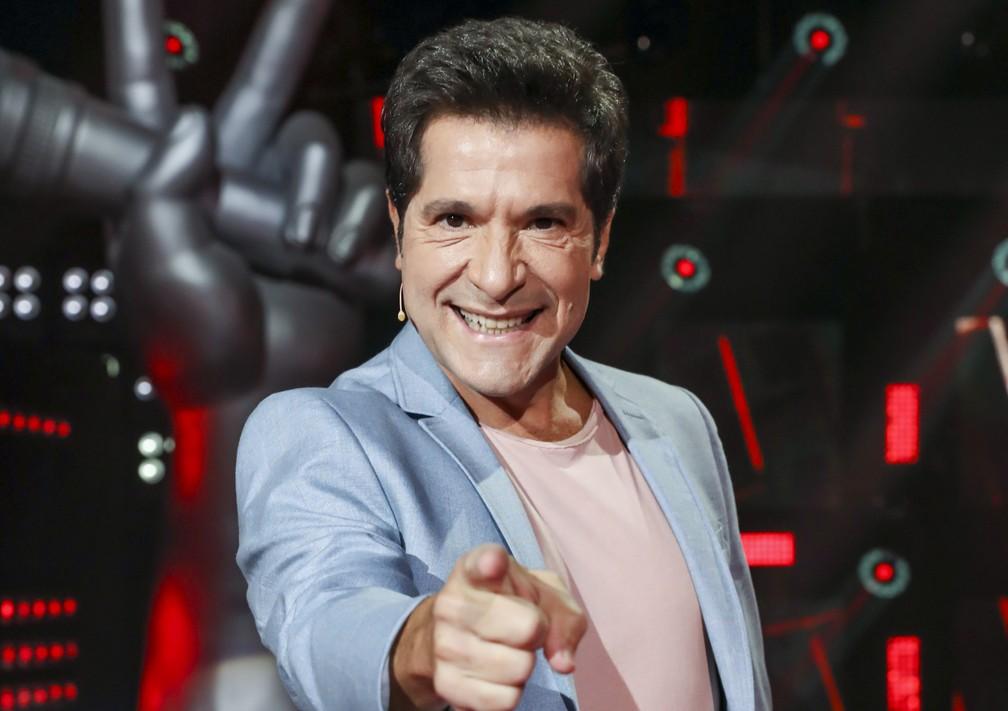 """Daniel volta ao """"The Voice"""" e integra time de técnicos da versão exclusiva para cantores com mais de 60 anos — Foto: Globo/João Miguel Júnior"""