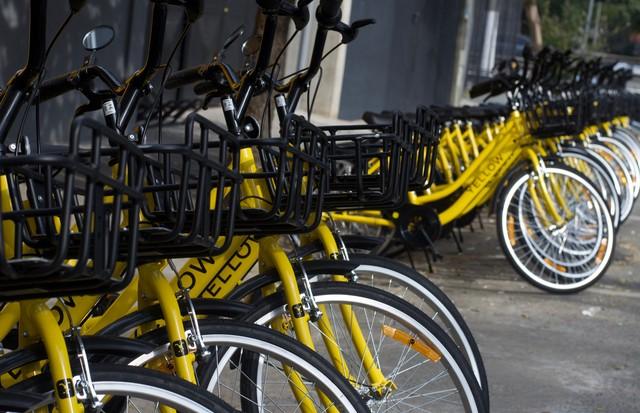 As Yellow Bikes estão ganhando às ruas da cidade (Foto: divulgação)
