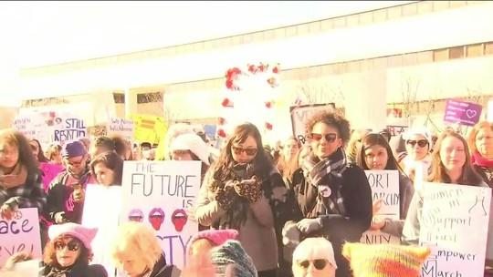 2ª edição da Marcha das Mulheres protesta contra Trump e desigualdade