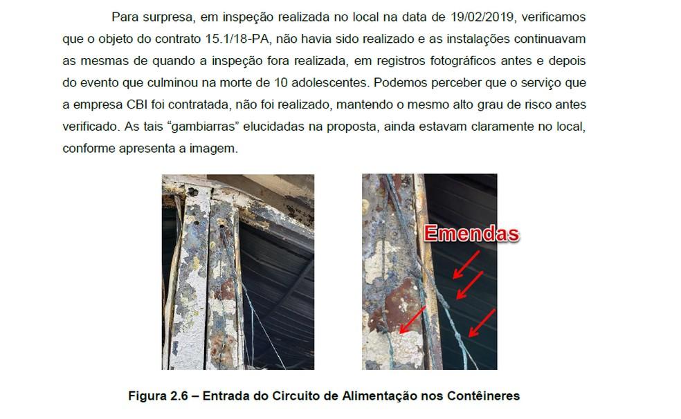 Trecho do relatório da empresa entregue ao Flamengo — Foto: Reprodução