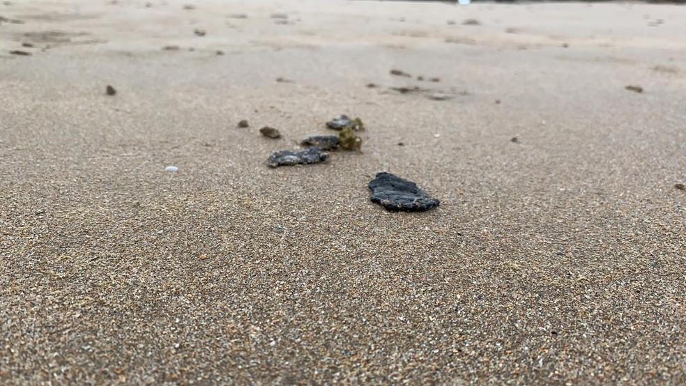 SALVADOR: Com o aparecimento na praia de Piatã, subiu para oito o número de cidades atingidas na Bahia.  — Foto: Victor Silveira / TV Bahia