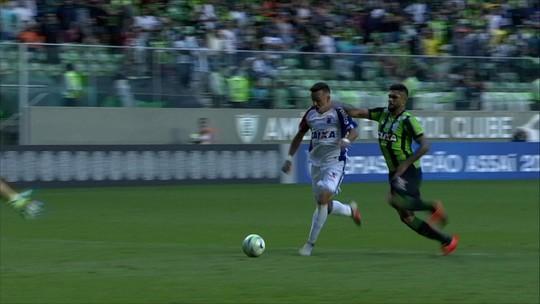 Paraná acha gol no fim contra o América-MG e encerra série de 18 jogos sem vitória