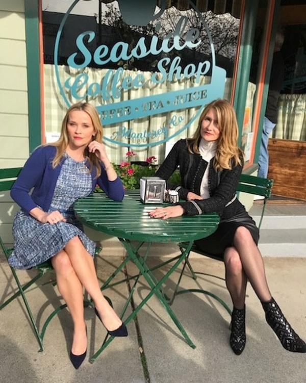 Laura Dern e Reese Witherspoon nos bastidores da segunda temporada de Big Little Lies (Foto: Reprodução/Instagram)