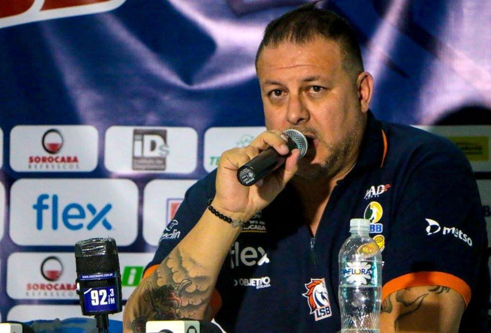 Rinaldo Rodrigues, técnico, Liga Sorocabana, LSB (Foto: Mariana Gouvêa / LSB)