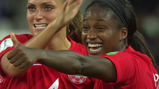 Veja os gols de Canadá 2 x 0 Nova Zelândia pela Copa do Mundo feminina