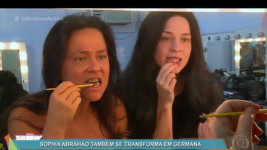 Sophia Abrahão passa por 'tutorial de feiura' para se transformar em Germana
