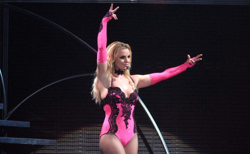-  Britney Spears em show no Rio de Janeiro, em 2016  Foto: Alexandre Durão/G1