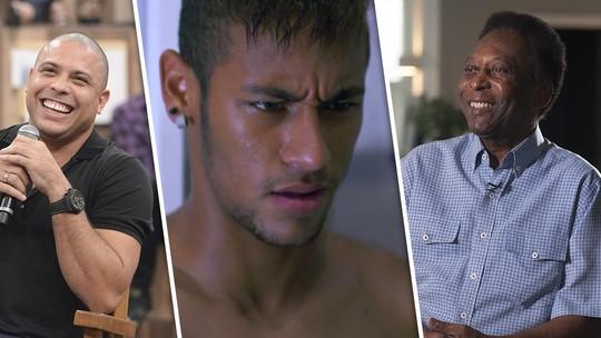 Neymar, Pelé, Ronaldo e outros craques do futebol estarão no 'Tá no Ar'