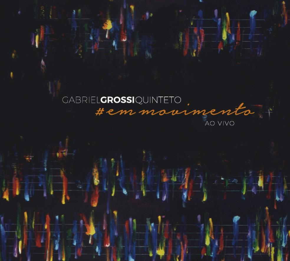 """Capa do álbum ao vivo """"#em movimento"""", de Gabriel Grossi (Foto: Arte de Antonio Peticov)"""