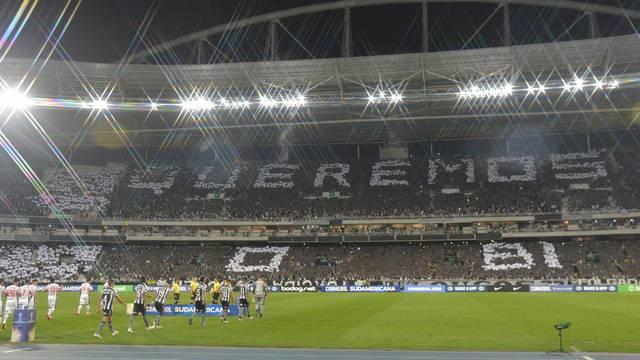 Mosaico da torcida do Botafogo