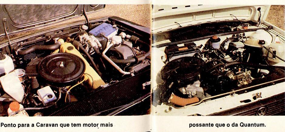 Motor 4.1 contra 1.8: um oferece mais potência, outro tem vantagem no consumo (Foto: Arquivo/Autoesporte)
