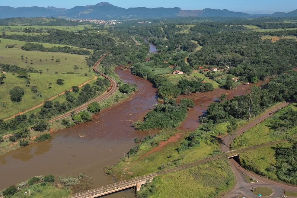Água do Rio Paraopeba está imprópria para consumo — Foto: Ibama/Divulgação