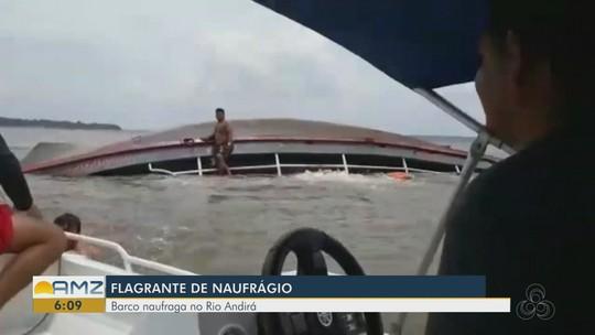Barco vira e naufraga em poucos segundos em rio no Amazonas; veja vídeo