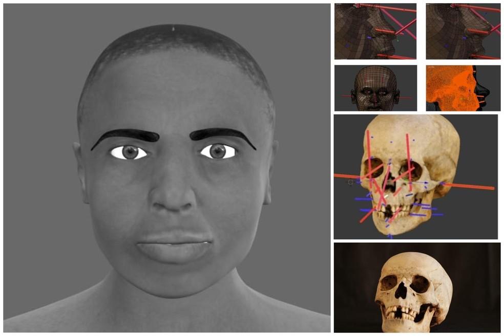 Crânio encontrado em Araguaína é de uma mulher de aproximadamente 1,60 metro — Foto: Divulgação/SSP-TO